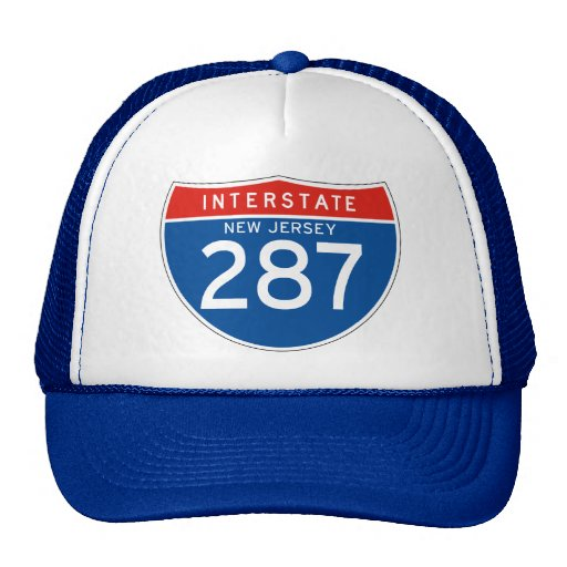 Interstate Sign 287 - New Jersey Hats