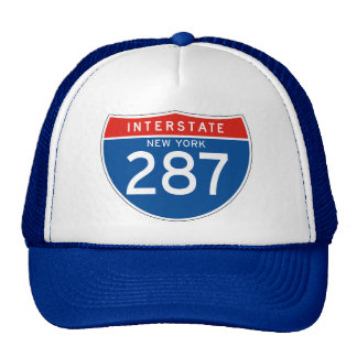 Interstate Sign 287 - New York Hats