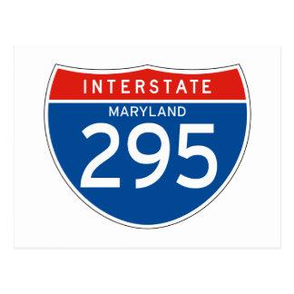 Interstate Sign 295 - Maryland Postcard