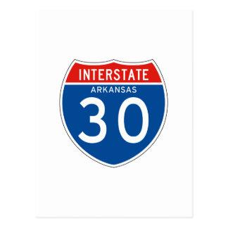 Interstate Sign 30 - Arkansas Postcard