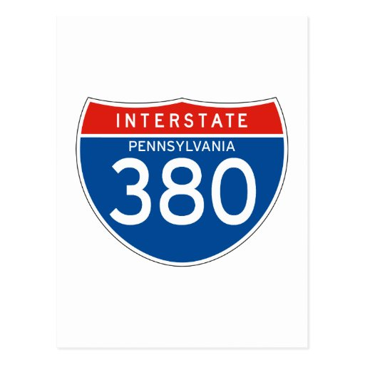 Interstate Sign 380 - Pennsylvania Post Cards