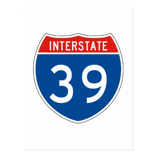 Interstate Sign 39 Post Card
