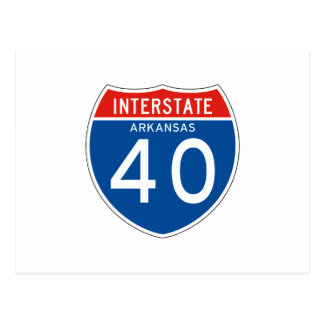 Interstate Sign 40 - Arkansas Postcard