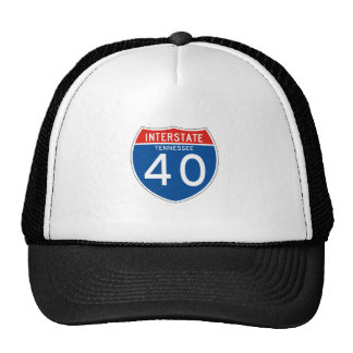 Interstate Sign 40 - Tennessee Mesh Hats