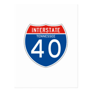 Interstate Sign 40 - Tennessee Postcard