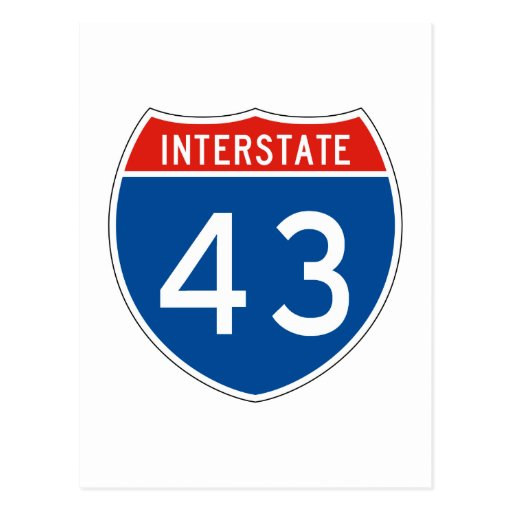 Interstate Sign 43 Postcards