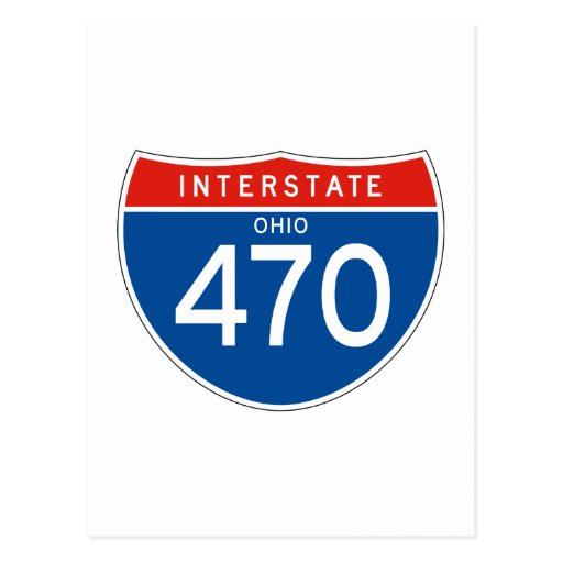 Interstate Sign 470 - Ohio Post Card
