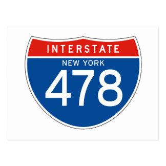 Interstate Sign 478 - New York Postcard