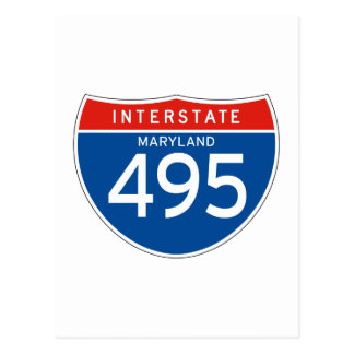 Interstate Sign 495 - Maryland Post Card