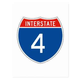 Interstate Sign 4 Postcard