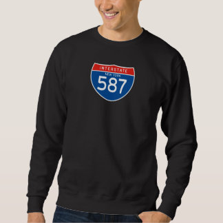 Interstate Sign 587 - New York Sweatshirt