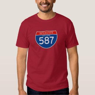 Interstate Sign 587 - New York T Shirt