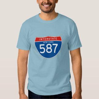 Interstate Sign 587 - New York T-shirts