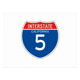 Interstate Sign 5 - Californian Post Card
