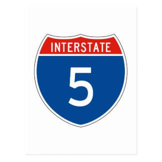 Interstate Sign 5 Postcard