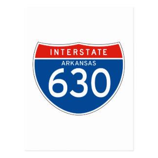 Interstate Sign 630 - Arkansas Postcard
