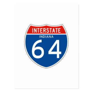 Interstate Sign 64 - Indiana Postcard