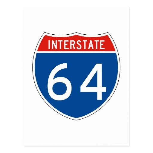Interstate Sign 64 Postcards