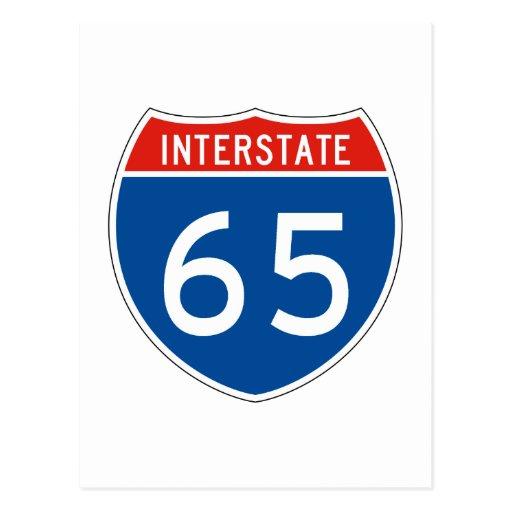 Interstate Sign 65 Postcards