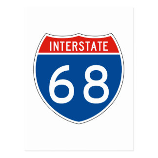 Interstate Sign 68 Postcard