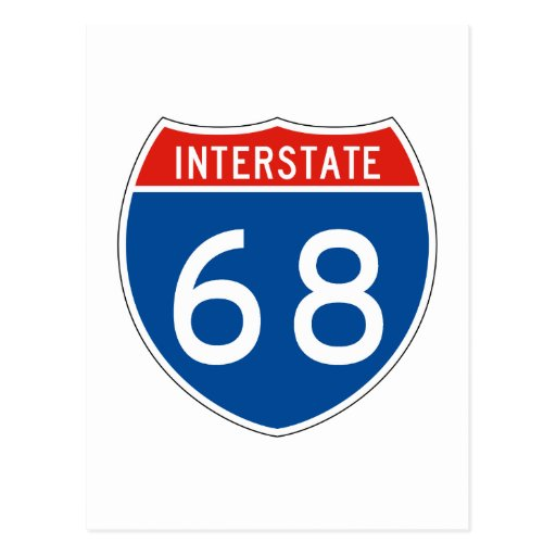 Interstate Sign 68 Postcards