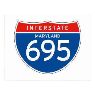 Interstate Sign 695 - Maryland Post Card