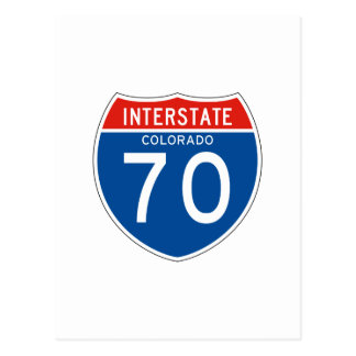 Interstate Sign 70 - Colorado Postcard