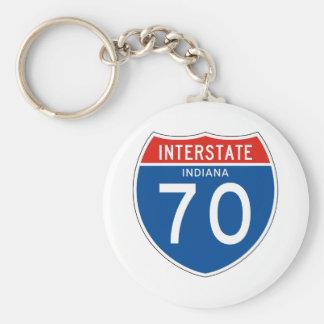Interstate Sign 70 - Indiana Key Ring