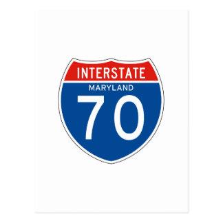 Interstate Sign 70 - Maryland Postcard