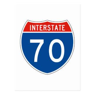 Interstate Sign 70 Postcard