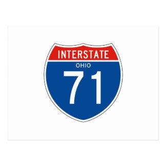 Interstate Sign 71 - Ohio Postcard