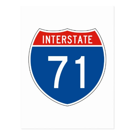 Interstate Sign 71 Post Card