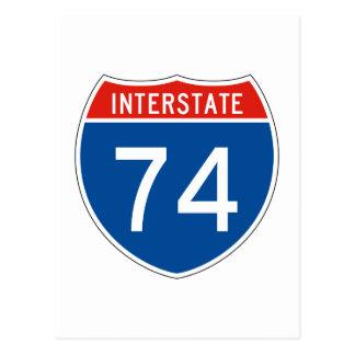Interstate Sign 74 Postcard