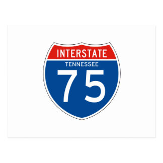 Interstate Sign 75 - Tennessee Postcard