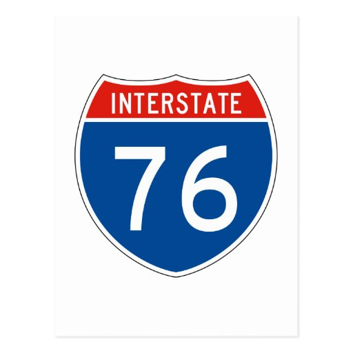 Interstate Sign 76 Postcard
