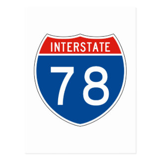Interstate Sign 78 Postcard