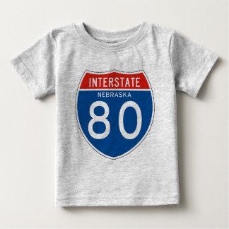 Interstate Sign 80 - Nebraska Shirts