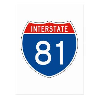 Interstate Sign 81 Postcard