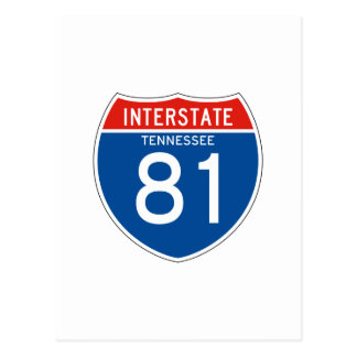 Interstate Sign 81 - Tennessee Postcard