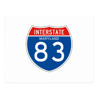 Interstate Sign 83 - Maryland Postcard
