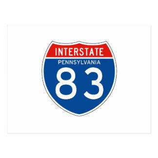 Interstate Sign 83 - Pennsylvania Postcard