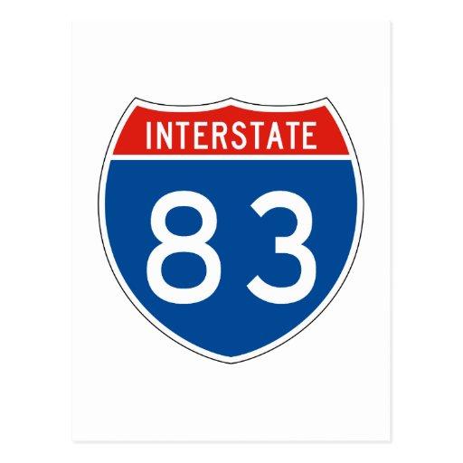 Interstate Sign 83 Postcard