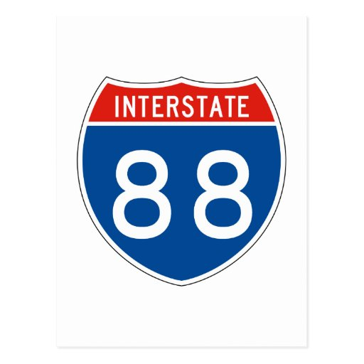 Interstate Sign 88 Post Card