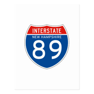 Interstate Sign 89 - New Hampshire Postcard