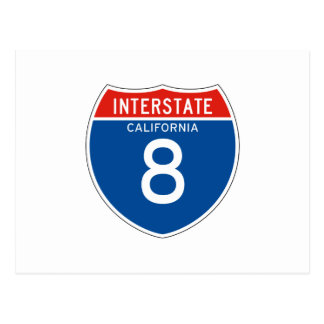 Interstate Sign 8 - Californian Post Cards