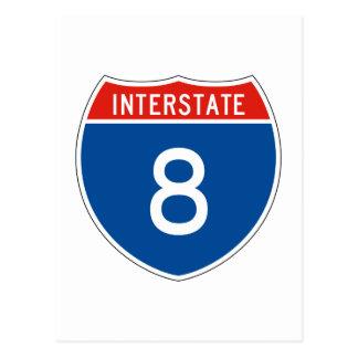 Interstate Sign 8 Postcard