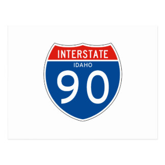 Interstate Sign 90 - Idaho Postcard