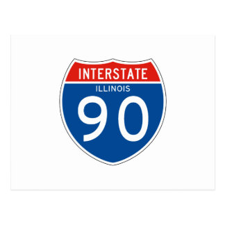 Interstate Sign 90 - Illinois Postcard