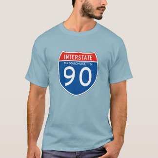 Interstate Sign 90 - Massachusetts T-Shirt