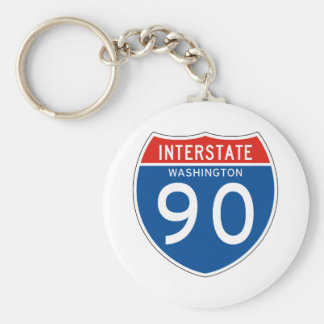 Interstate Sign 90 - Washington Key Ring